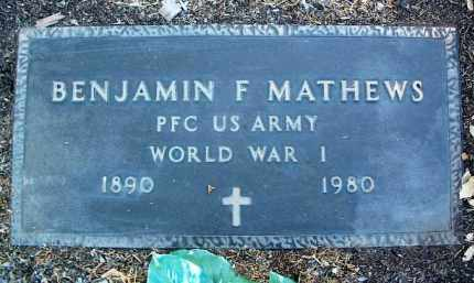MATHEWS, BENJAMIN FRANK - Yavapai County, Arizona | BENJAMIN FRANK MATHEWS - Arizona Gravestone Photos