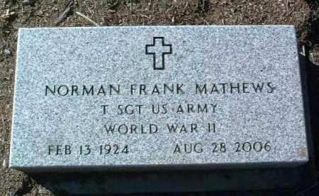 MATHEWS, NORMAN FRANK - Yavapai County, Arizona | NORMAN FRANK MATHEWS - Arizona Gravestone Photos