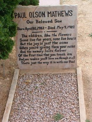 MATHEWS, PAUL OLSON - Yavapai County, Arizona | PAUL OLSON MATHEWS - Arizona Gravestone Photos