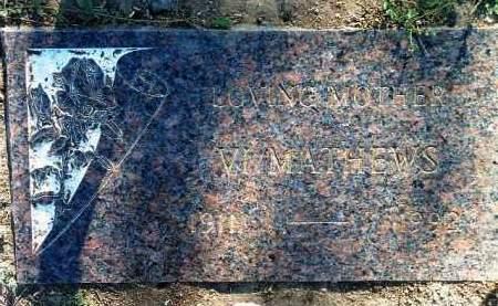 MATHEWS, VIOLET VERN - Yavapai County, Arizona | VIOLET VERN MATHEWS - Arizona Gravestone Photos