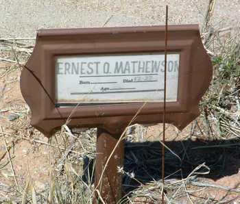 MATHEWSON, ERNEST OTIS - Yavapai County, Arizona | ERNEST OTIS MATHEWSON - Arizona Gravestone Photos