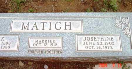 MATICH, JOSEPHINE - Yavapai County, Arizona | JOSEPHINE MATICH - Arizona Gravestone Photos
