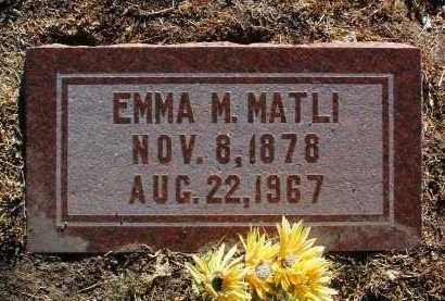 MATLI, EMMA MABEL - Yavapai County, Arizona | EMMA MABEL MATLI - Arizona Gravestone Photos