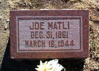 MATLI, JOSEPH FIDELI (JOE) - Yavapai County, Arizona | JOSEPH FIDELI (JOE) MATLI - Arizona Gravestone Photos