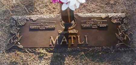 MATLI, JOSEPH ANDREW (JOE) - Yavapai County, Arizona   JOSEPH ANDREW (JOE) MATLI - Arizona Gravestone Photos
