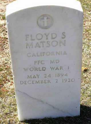 MATSON, FLOYD SIMPSON - Yavapai County, Arizona   FLOYD SIMPSON MATSON - Arizona Gravestone Photos