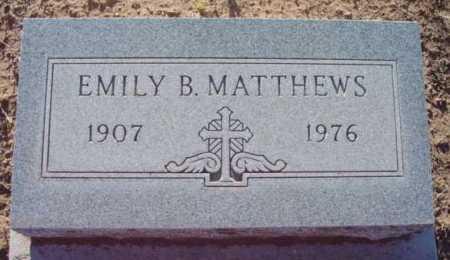 MATTHEWS, EMILY B. - Yavapai County, Arizona | EMILY B. MATTHEWS - Arizona Gravestone Photos