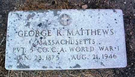 MATTHEWS, GEORGE R. - Yavapai County, Arizona   GEORGE R. MATTHEWS - Arizona Gravestone Photos