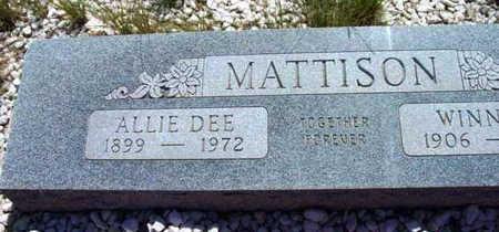 MATTISON, ALLIE DEE - Yavapai County, Arizona | ALLIE DEE MATTISON - Arizona Gravestone Photos