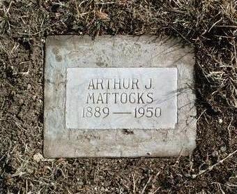 MATTOCKS, ARTHUR JAMES - Yavapai County, Arizona | ARTHUR JAMES MATTOCKS - Arizona Gravestone Photos