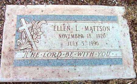 MATTSON, ELLEN L. - Yavapai County, Arizona | ELLEN L. MATTSON - Arizona Gravestone Photos
