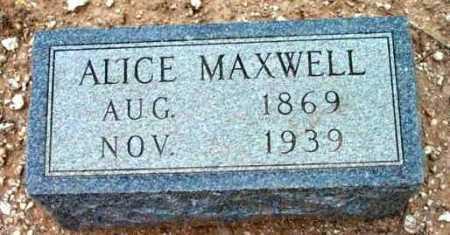 COULSON MAXWELL, ALICE ADELIA - Yavapai County, Arizona | ALICE ADELIA COULSON MAXWELL - Arizona Gravestone Photos