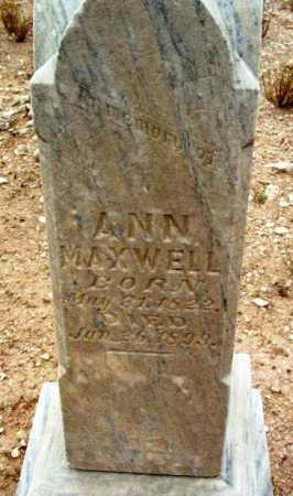 MAXWELL, ANN - Yavapai County, Arizona | ANN MAXWELL - Arizona Gravestone Photos