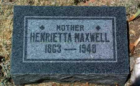 MAXWELL, HENRIETTA (ETTA) - Yavapai County, Arizona | HENRIETTA (ETTA) MAXWELL - Arizona Gravestone Photos
