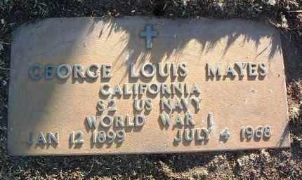MAYES, GEORGE LOUIS (LOU) - Yavapai County, Arizona | GEORGE LOUIS (LOU) MAYES - Arizona Gravestone Photos
