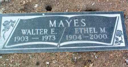 MAYES, WALTER EDWARD - Yavapai County, Arizona | WALTER EDWARD MAYES - Arizona Gravestone Photos