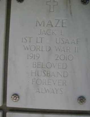 MAZE, JACK L. - Yavapai County, Arizona | JACK L. MAZE - Arizona Gravestone Photos