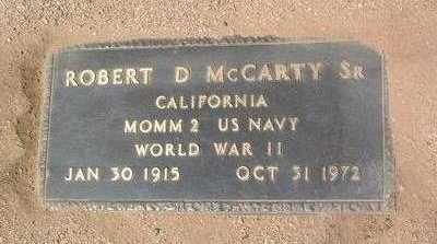MCCARTY, ROBERT D., SR. - Yavapai County, Arizona | ROBERT D., SR. MCCARTY - Arizona Gravestone Photos