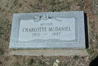 MCDANIEL, CHARLOTTE - Yavapai County, Arizona   CHARLOTTE MCDANIEL - Arizona Gravestone Photos