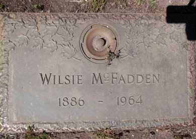 MCFADDEN, WILSIE - Yavapai County, Arizona | WILSIE MCFADDEN - Arizona Gravestone Photos