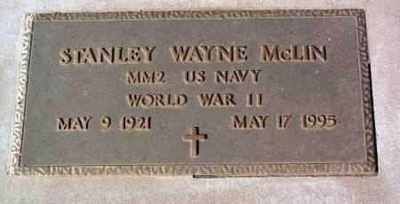 MCLIN, STANLEY WAYNE - Yavapai County, Arizona   STANLEY WAYNE MCLIN - Arizona Gravestone Photos