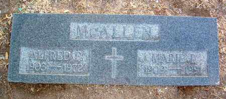 MCALLEN, ALFRED FREEMAN - Yavapai County, Arizona | ALFRED FREEMAN MCALLEN - Arizona Gravestone Photos