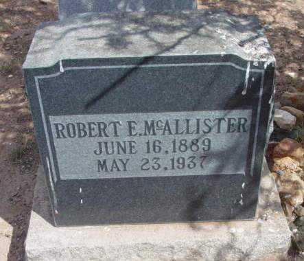 MCALLISTER, ROBERT E. - Yavapai County, Arizona   ROBERT E. MCALLISTER - Arizona Gravestone Photos