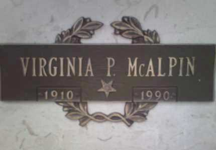 MCALPIN, ALTA VIRGINIA - Yavapai County, Arizona | ALTA VIRGINIA MCALPIN - Arizona Gravestone Photos