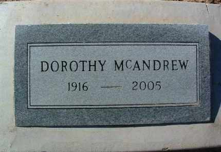 MCANDREW, DOROTHY - Yavapai County, Arizona | DOROTHY MCANDREW - Arizona Gravestone Photos