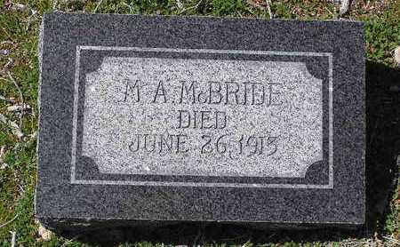 MCBRIDE, M. A. - Yavapai County, Arizona   M. A. MCBRIDE - Arizona Gravestone Photos