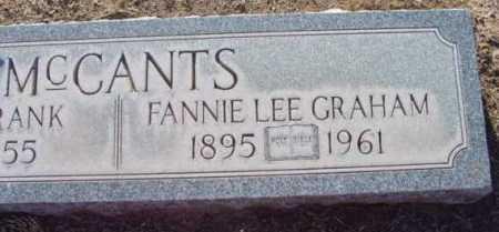 MCCANTS, FRANCIS LEE - Yavapai County, Arizona | FRANCIS LEE MCCANTS - Arizona Gravestone Photos