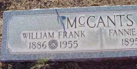 MCCANTS, WILLIAM FRANK - Yavapai County, Arizona | WILLIAM FRANK MCCANTS - Arizona Gravestone Photos