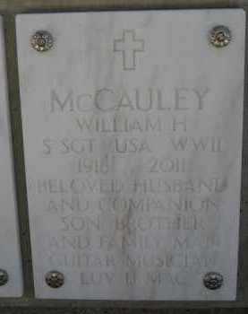 MCCAULEY, WILLIAM H - Yavapai County, Arizona | WILLIAM H MCCAULEY - Arizona Gravestone Photos