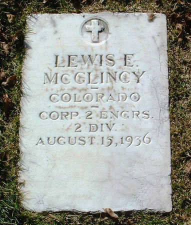 MCGLINCY, LEWIS E. - Yavapai County, Arizona | LEWIS E. MCGLINCY - Arizona Gravestone Photos