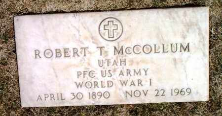 MCCOLLUM, ROBERT T. - Yavapai County, Arizona | ROBERT T. MCCOLLUM - Arizona Gravestone Photos