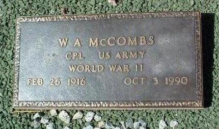 MCCOMBS, WASHINGTON A. - Yavapai County, Arizona | WASHINGTON A. MCCOMBS - Arizona Gravestone Photos
