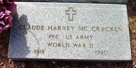 MCCRACKEN, CLAUDE HARVEY - Yavapai County, Arizona | CLAUDE HARVEY MCCRACKEN - Arizona Gravestone Photos