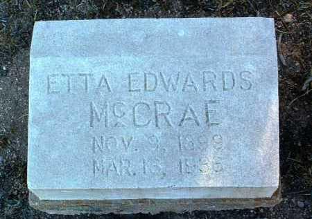 MCCRAE, ETTA - Yavapai County, Arizona | ETTA MCCRAE - Arizona Gravestone Photos