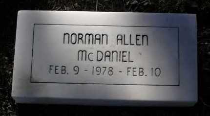 MCDANIEL, NORMAN ALLEN - Yavapai County, Arizona | NORMAN ALLEN MCDANIEL - Arizona Gravestone Photos