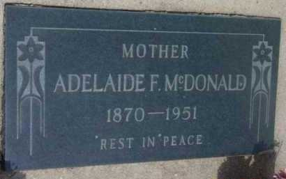 FULLER MCDONALD, A. F. - Yavapai County, Arizona | A. F. FULLER MCDONALD - Arizona Gravestone Photos