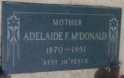 MCDONALD, ADELAIDE F. - Yavapai County, Arizona   ADELAIDE F. MCDONALD - Arizona Gravestone Photos