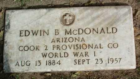 MCDONALD, EDWIN B. - Yavapai County, Arizona | EDWIN B. MCDONALD - Arizona Gravestone Photos