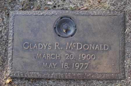 MCDONALD, GLADYS R. - Yavapai County, Arizona | GLADYS R. MCDONALD - Arizona Gravestone Photos