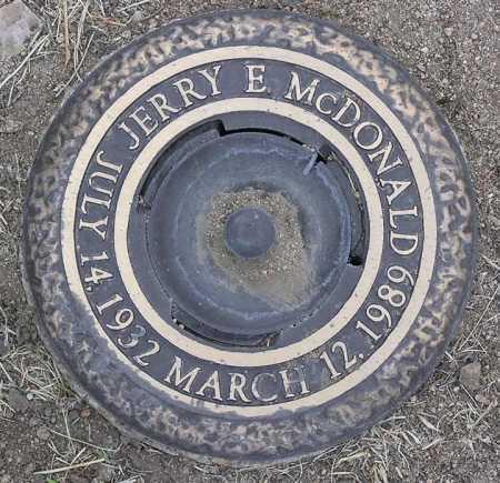 MCDONALD, JERRY E. - Yavapai County, Arizona | JERRY E. MCDONALD - Arizona Gravestone Photos