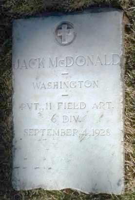 MCDONALD, JACK - Yavapai County, Arizona   JACK MCDONALD - Arizona Gravestone Photos