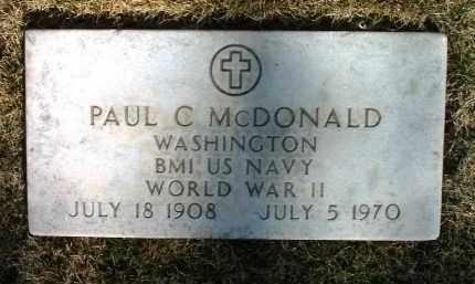 MCDONALD, PAUL C. - Yavapai County, Arizona | PAUL C. MCDONALD - Arizona Gravestone Photos