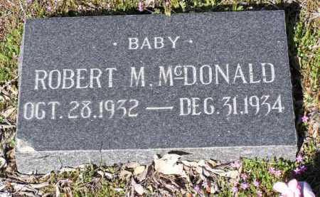 MCDONALD, ROBERT M. - Yavapai County, Arizona | ROBERT M. MCDONALD - Arizona Gravestone Photos