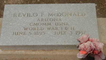 MCDONALD, REVILO FULLER - Yavapai County, Arizona | REVILO FULLER MCDONALD - Arizona Gravestone Photos