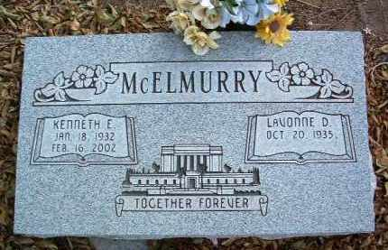 MCELMURRY, LAVONNE D. - Yavapai County, Arizona | LAVONNE D. MCELMURRY - Arizona Gravestone Photos