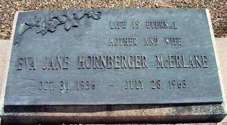 HORNBERGER MCERLANE, EVA JANE - Yavapai County, Arizona | EVA JANE HORNBERGER MCERLANE - Arizona Gravestone Photos